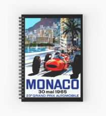 """MONACO GRAND PRIX"" Vintage Auto Racing Print Spiral Notebook"