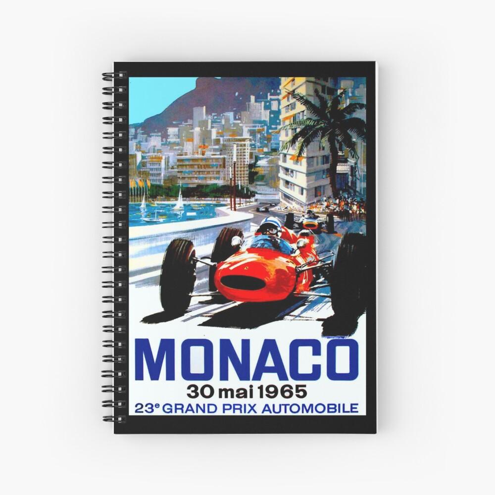 """MONACO GRAND PRIX"" Vintage Auto Racing Print Spiralblock"