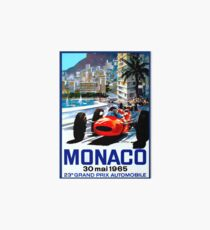 """MONACO GRAND PRIX"" Vintage Auto Racing Print Art Board"