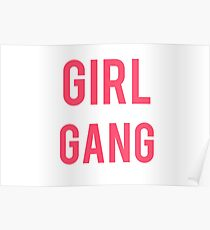"""Girl Gang"" Pink Graphic Poster"