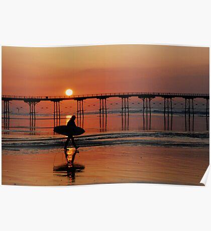 Saltburn Surfer Poster