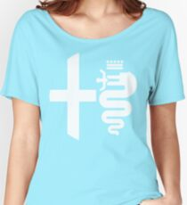 Alfa Romeo biscione / cross (white) Women's Relaxed Fit T-Shirt