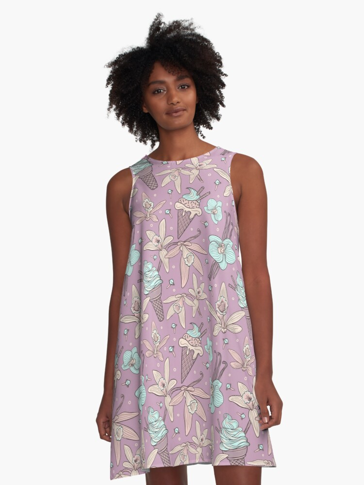 vanilla and ice cream A-Line Dress Front