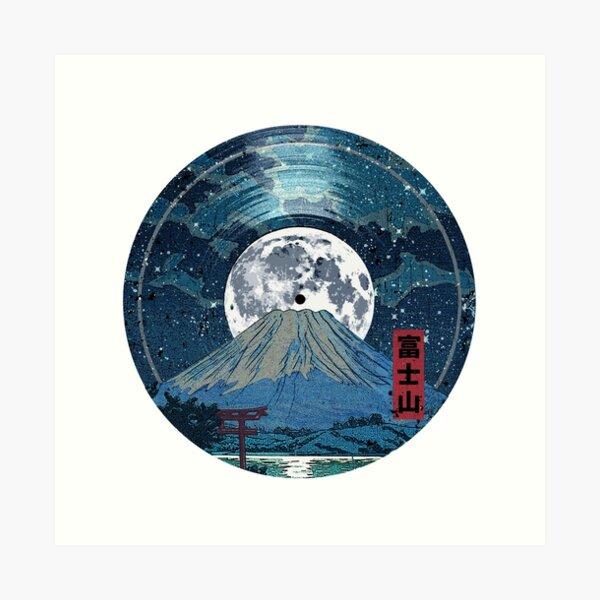 Mt. Fuji Night LP Sky Art Print