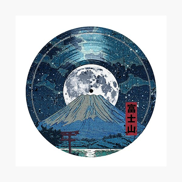 Mt. Fuji Night LP Sky Fotodruck