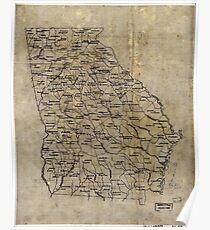 005  Base map of Georgia Poster
