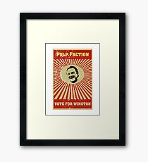 Pulp Faction - Winston Framed Print