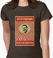 Pulp Faction - Winston Womens Fitted T-Shirt