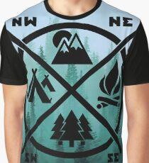 Camiseta gráfica Nunca dejes de explorar