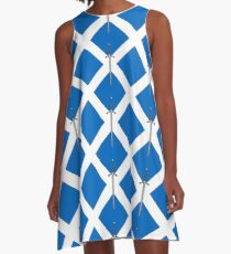 Claymore on Saltire A-Line Dress
