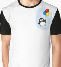 Flying Penguin Graphic T-Shirt