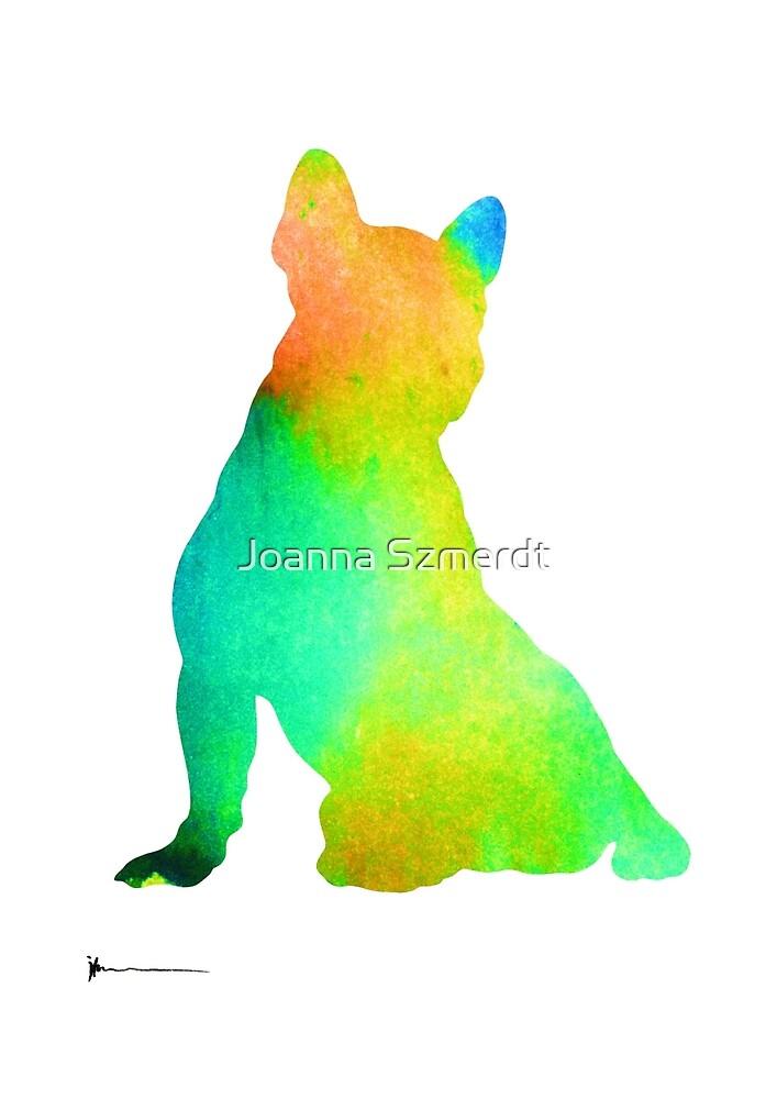 French bulldog image art silhouette by Joanna Szmerdt