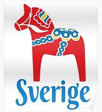 Sverige Dala Dalarna Sweden Pferd Dalecarlian Schwedisch Poster