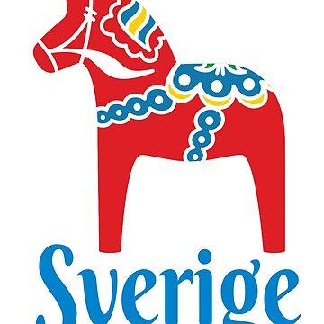 Sverige Dala  Dalarna Sweden Horse Dalecarlian Swedish by funnytshirtemp