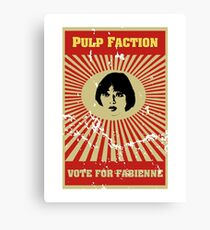 Pulp Faction - Fabienne Canvas Print