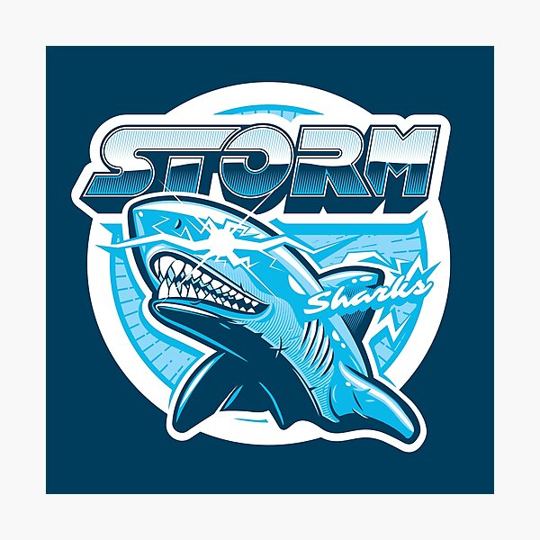 Team Storm Sharks Photographic Print