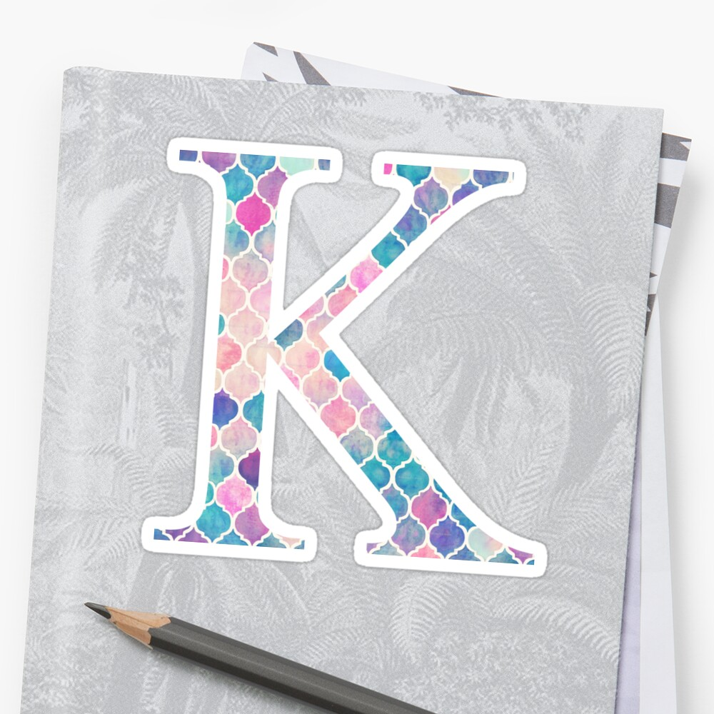 Kappa K Watercolor Mosaic by greekgoddess