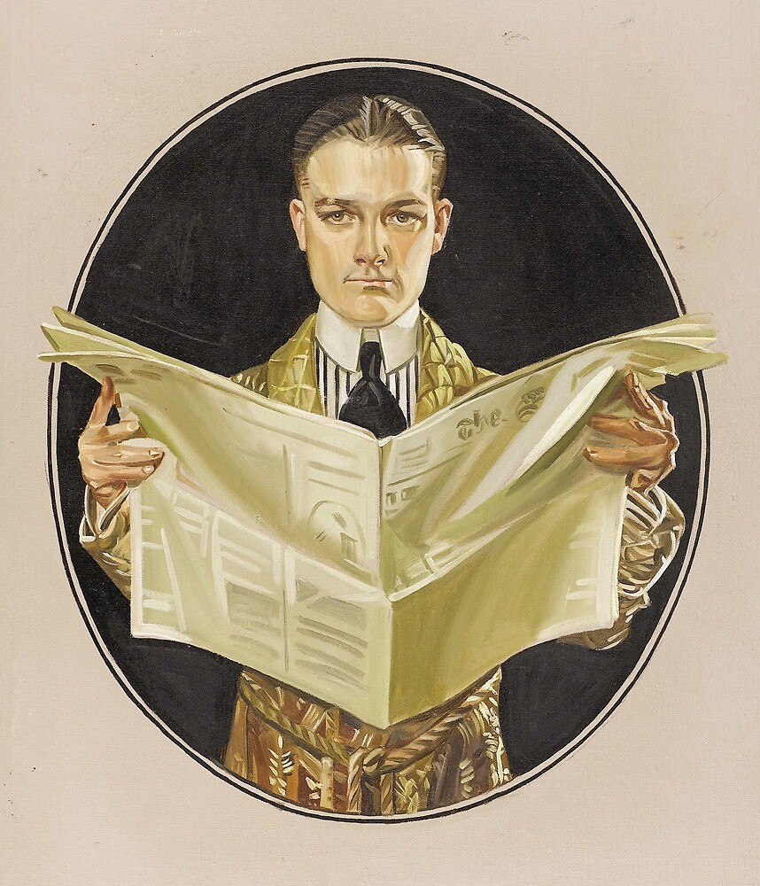 1920s Man with newspaper by planete-livres