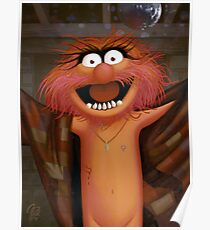 Muppet Maniacs - Animal as Buffalo Bill Poster