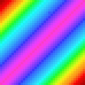 Pixel Rainbow by TadHappyGilmore