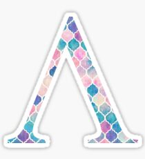 Lambda V Watercolor Mosaic Sticker