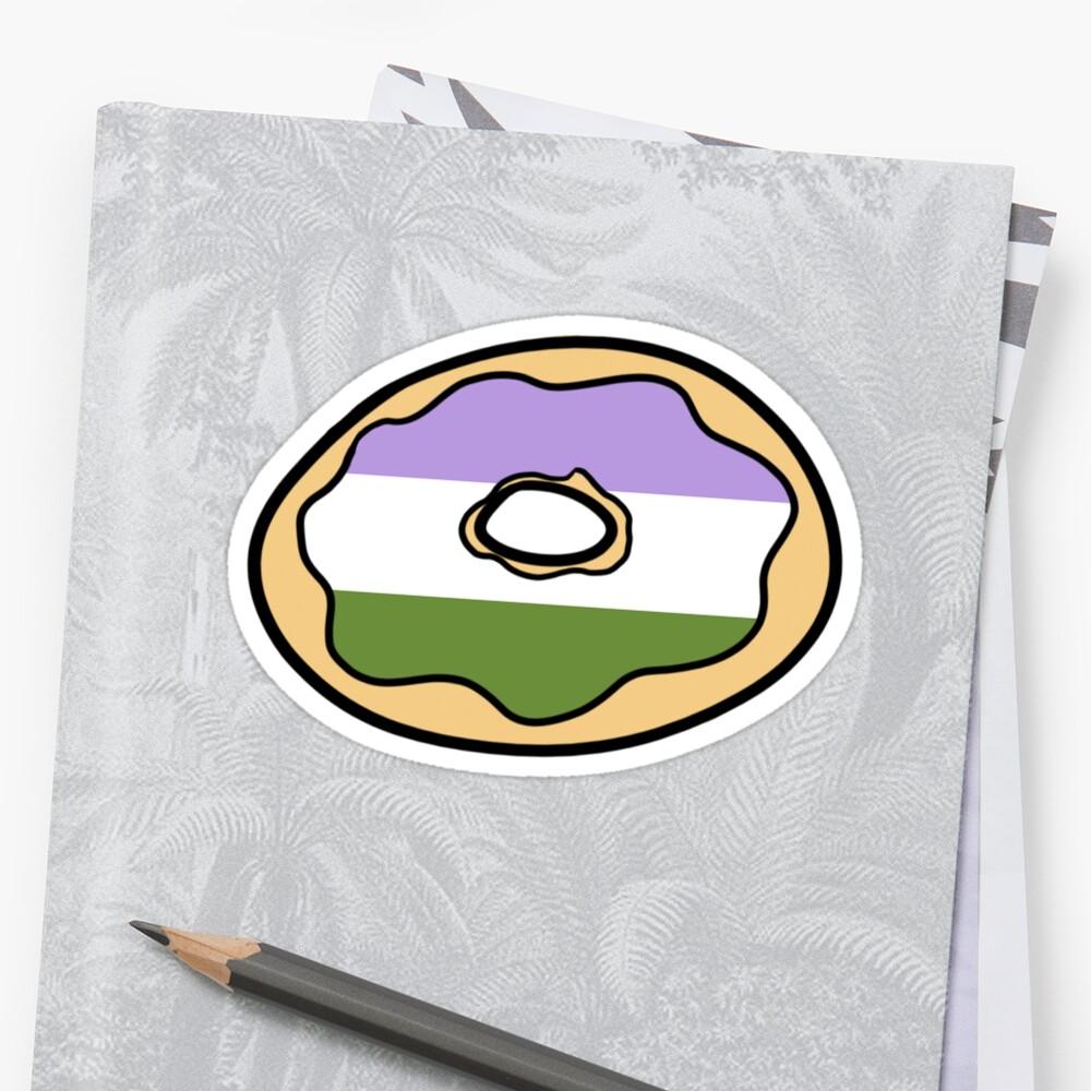 Genderqueer Donut by JayTheTaurus