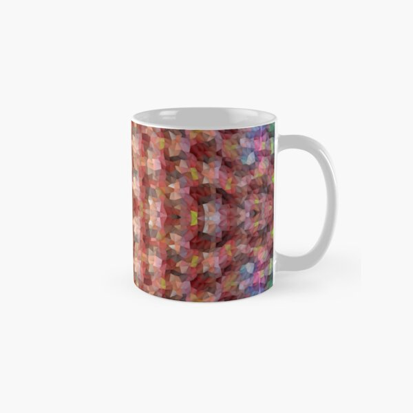 Abstract Mosaic in Red Rainbow Classic Mug