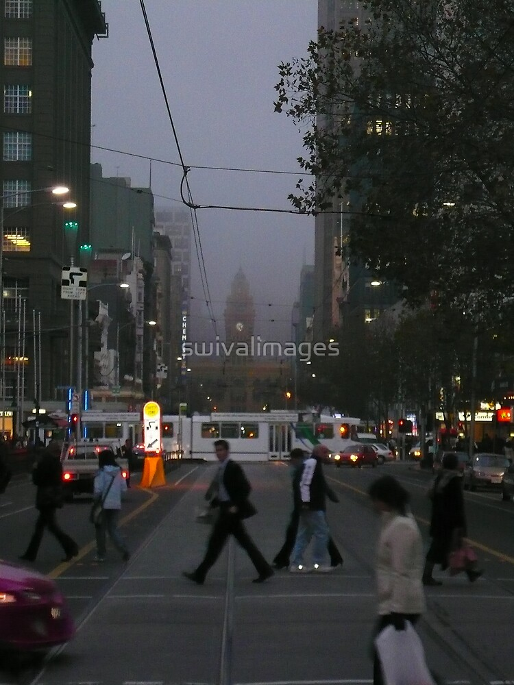 Melbourne @ Night by swivalimages