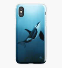 """The Dreamer"" by Amber Marine ~ orca / killer whale painting, art © 2015 iPhone Case/Skin"