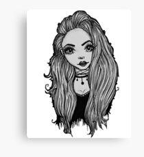 Alternative girl Canvas Print