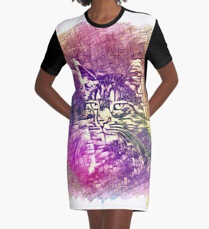 Cat Graphic T-Shirt Dress