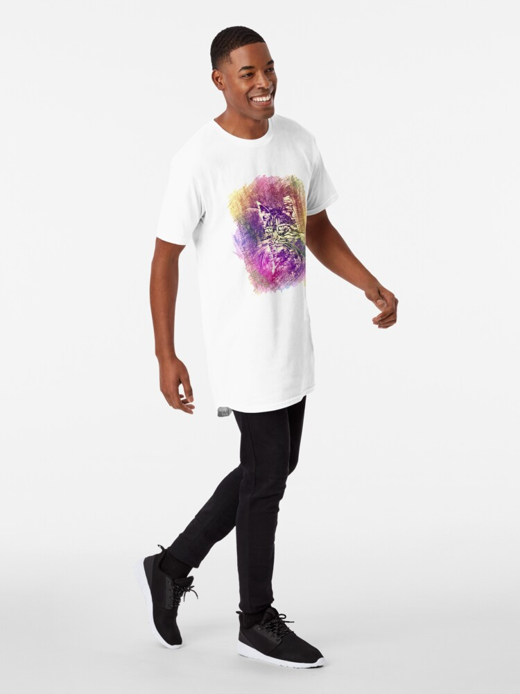 Alternate view of Cat Long T-Shirt