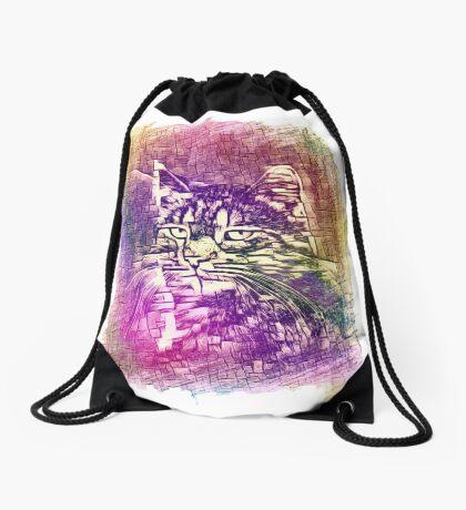 Cat Drawstring Bag