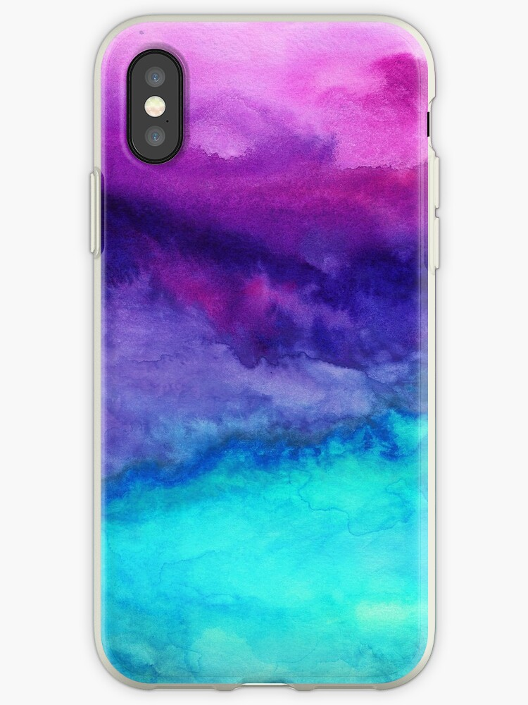 separation shoes 360f9 8c8a0 'The Sound - Abstract Ombre Watercolor' iPhone Case by Jacqueline Maldonado