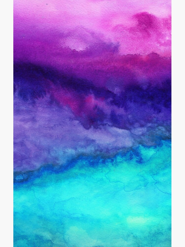 The Sound - Abstract Ombre Watercolor by mjmstudio