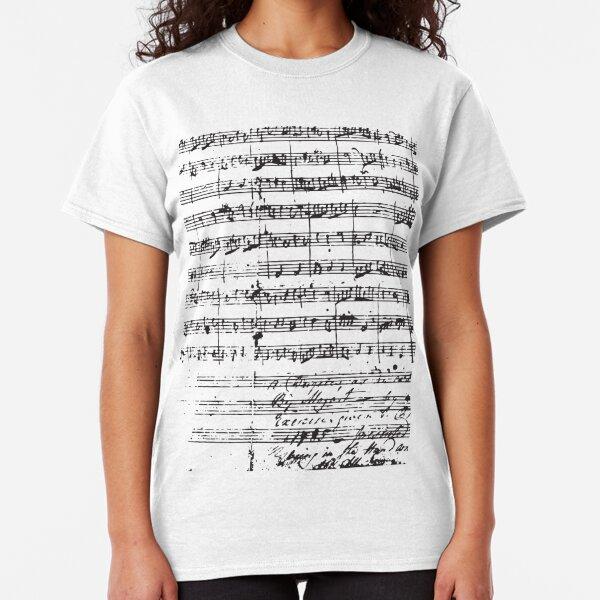 Mozart Manuscript Classic T-Shirt