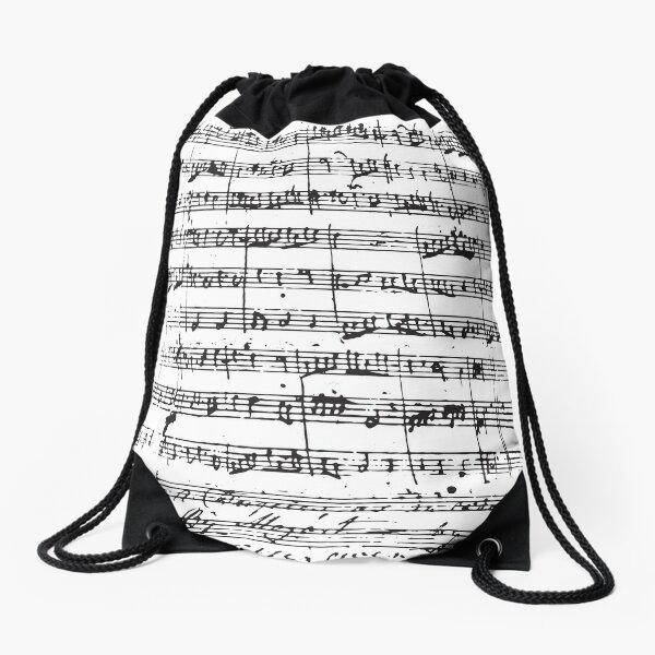 Mozart Manuscript Drawstring Bag