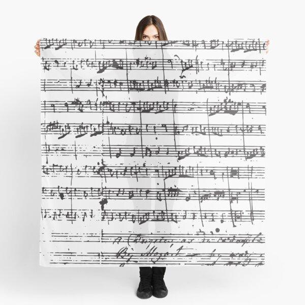 Mozart Manuscript Scarf