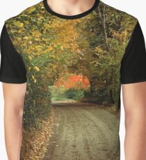 Road Curves into Magical Fall Colors Graphic T-Shirt