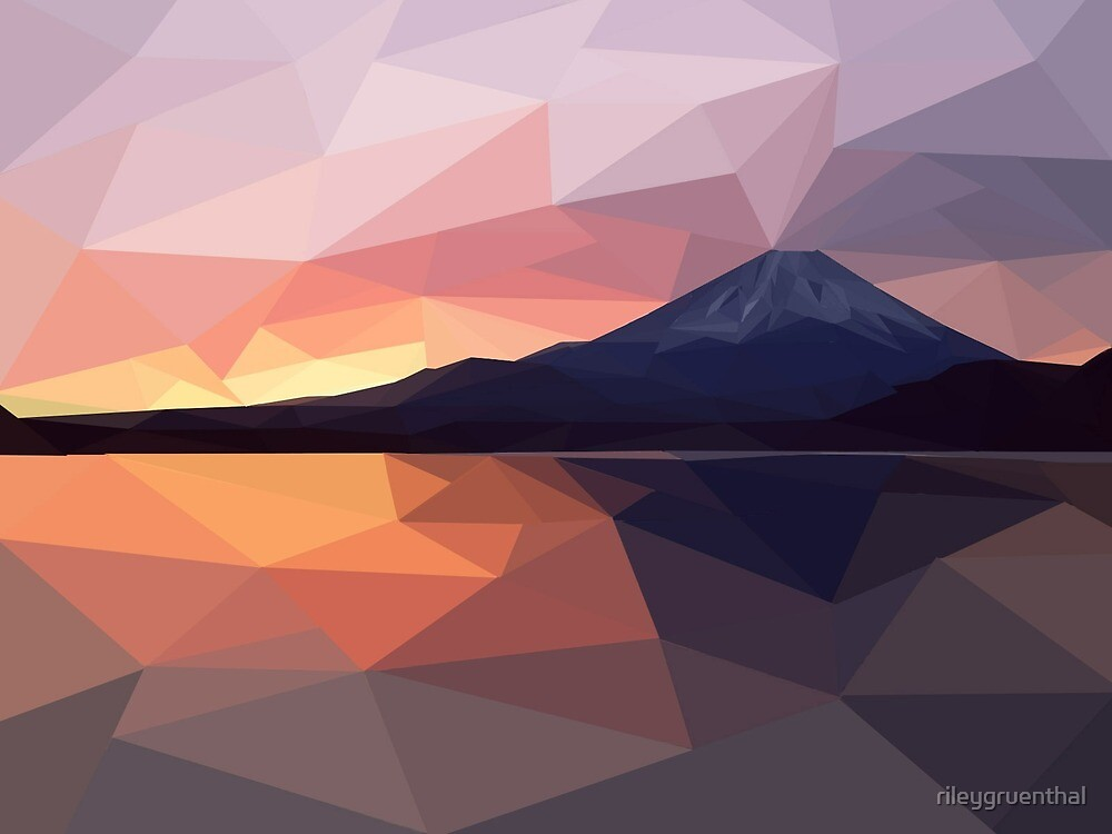 low poly mount fuji by rileygruenthal