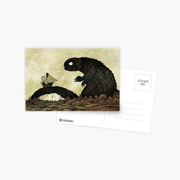 Leviathan & Sailing Ship Postcard