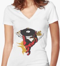 Keep the music up Women's Fitted V-Neck T-Shirt
