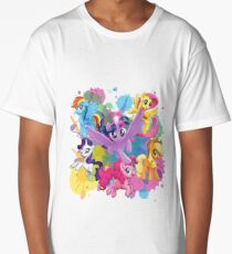 my little pony movie mane 6 Long T-Shirt