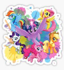 my little pony movie mane 6 Sticker