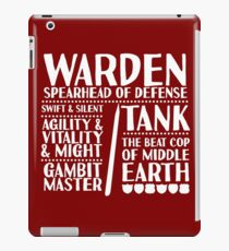 Warden - LoTRO iPad Case/Skin