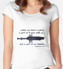 When we leave a place Women's Fitted Scoop T-Shirt