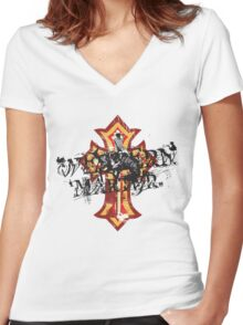 Western Martyr Women's Fitted V-Neck T-Shirt