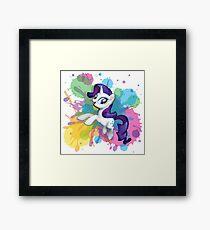 my little pony rarity Framed Print