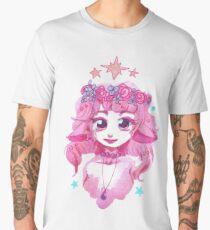 Pink Flower Crown Girl Men's Premium T-Shirt