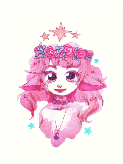 Pink Flower Crown Girl by SaradaBoru